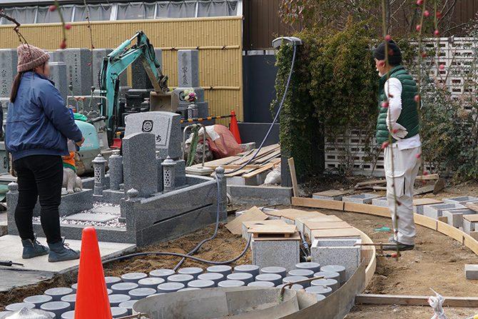 ペットと入れる樹木葬庭苑の工事中3